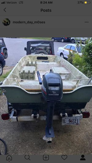 14' 1980 Malibu skiff tri haul 6.6hp evinrude 2 stroke for Sale in Virginia Beach, VA