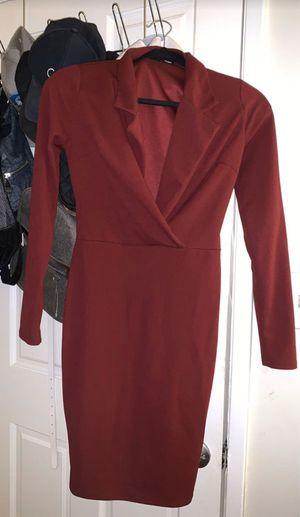 Fashion Nova burgundy dress SMALL for Sale in Carson, CA