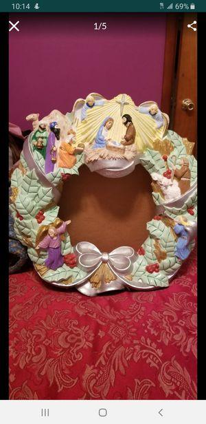 Nativity wreath for Sale in Montgomery, IL