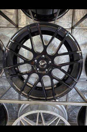 19x8.5 and 19x9.5 Ground Force GF07 gloss black fits 5x120 5x112 BMW mercedes rim wheel tire shop for Sale in Tempe, AZ