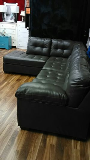 Tufted grey sectional! Other couch and love seat deals here for Sale in Indianapolis, IN