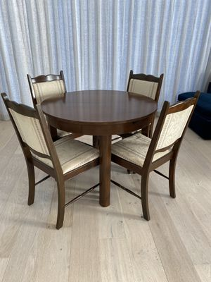 """Vintage 39"""" round dining table with 4 chairs - made in Germany Menzel Tisch for Sale in Los Angeles, CA"""