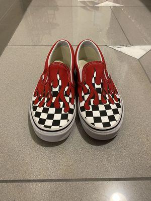 Vans Checker Flame Slip On Shoes ( Size 8 Men ) for Sale in Decatur, GA