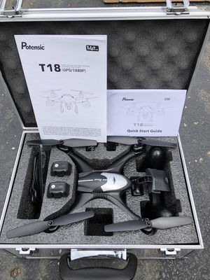Brand New Drone with 1080P HD Camera, Potensic T18 GPS FPV RC Quadcopter with Adjustable Wide-Angle WiFi Camera, Auto Return Home, Altitude Hold, Fol for Sale in Pataskala, OH