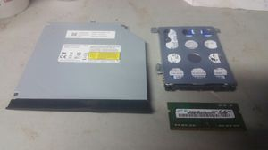 Parts for laptop cd/dvd multi & 4gb ram & 500gb hd for Sale in Pocono Summit, PA