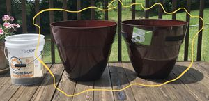 Two very large, brand spanking new flower pots for Sale in Lexington, KY