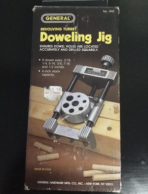 General Tools 840 Pro Doweling Jig Kit &Doweling 5274 5/16 X 1 1/2 for Sale in Brooklyn, NY