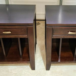 End Tables - Haverty's - Dark Brown Solid Wood for Sale in Alexandria, VA