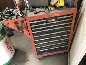 Craftsman tool box with random sockets for Sale in Kingsburg, CA