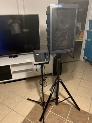 Anchor Audio MPA-5000 Liberty Powered 2-way Speaker and AN-1000X Powered 2-Way Portable Speaker Monitor for Sale in Dallas, TX