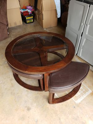 Round Cofee table + 4 seats for Sale in Chula Vista, CA