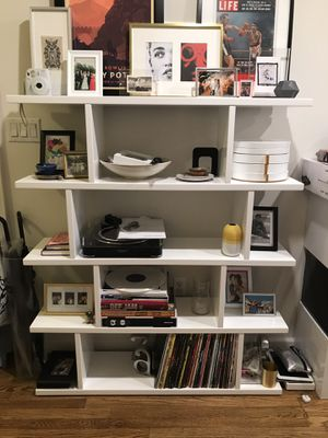 CB2 3.14 White Bookcase for Sale in New York, NY