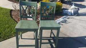 Wooden bar stools (2) for Sale in Clermont, FL