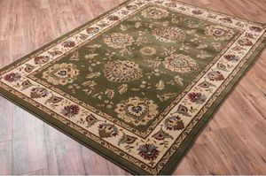 Gorgeous 8x10 rug brand new / luxurious thick accent area rug traditional / cream green burgundy brown sage for Sale in Glendale, AZ