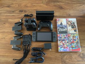 All Black Nintendo Switch w/ top Games for Sale in Los Angeles, CA