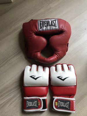 Everlast brand MMA/ Boxing Headgear & Gloves for Sale in Tacoma, WA