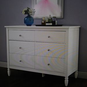 Better Homes and Gardens White 6 Drawer Dresser for Sale in Dallas, TX