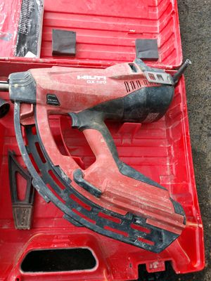 HILTI Fastening Gas Power Actuated nail gun GX 120 tested works great for Sale in Pickerington, OH