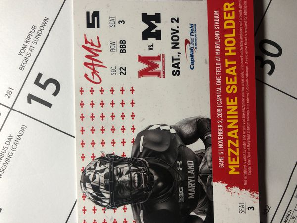 Maryland vs Michigan Football game Box style seats both indoor and outdoor