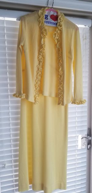 Mother Of The Bride Pale Yellow Sheath Dress W/Jacket/Size 10 for Sale in Germantown, MD