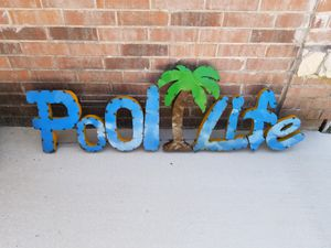 XL Metal Pool Life Sign for Sale in Wylie, TX