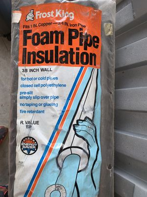 Frost king foam pipe insulation for Sale in Duluth, GA