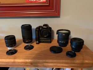 Nikon D3400 with 4 Lenses for Sale in Chicago, IL