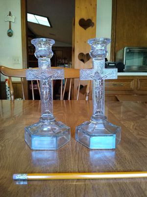 Pair of cross candle holders for Sale in Richardson, TX