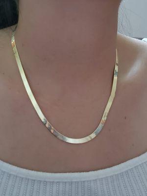 "925 Sterling Silver Herringbone Necklace 18"" for Sale in Elmwood Park, NJ"