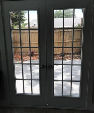 Pair of Patio Doors for Sale $120 for both for Sale in Tampa, FL