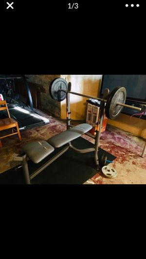 Weight Bench w/ weights for Sale in Chicago, IL