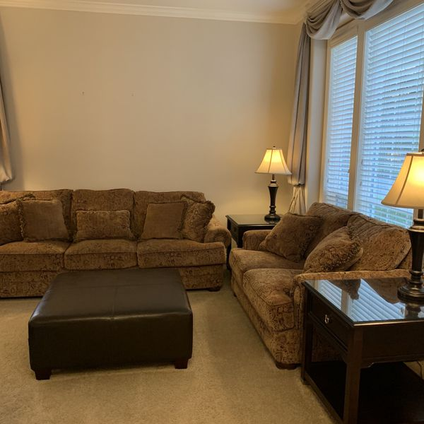 Queen Sleeper Sofa and Matching Love Seat