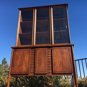 Mid Century China Cabinet Hutch Buffet for Sale in Encinitas, CA