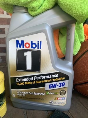 Unopened full synthetic 5W-30 Mobil 1 Motor oil for Sale in Hamilton Township, NJ