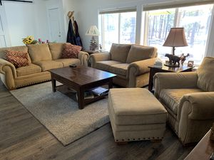 Sofa/love seat. Chair and ottoman for Sale in La Pine, OR