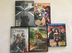 DVD Movies:X-Men Last Stand+Comic Book $5,Thor 2-3 Both For $5,Blu Ray 3 Disc Set Batman Vs Superman $5 Discs Like New for Sale in Reedley, CA