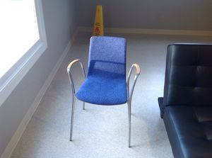 3 mesh back chairs with steel frame for Sale in Sudbury, MA