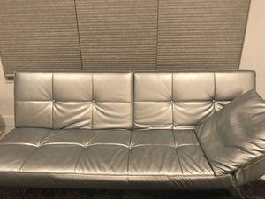 Beautiful silver sofa/futon for Sale in Miami, FL