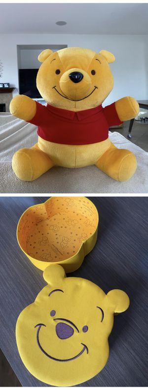 Winnie the Pooh Plush/Stuffed Animal SEGA Disney & Face box for Sale in Chula Vista, CA