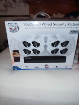 1080p hd wired security system 8 cameras for Sale in Salt Lake City, UT