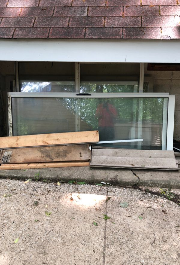 FREE - Sliding glass door frame and doors - FREE