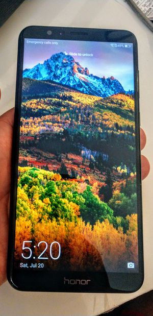 Mint Condition Huawei Honor 7x 32GB Unlocked Any Carrier/Dual SIM Cards/fingerprint scanner for Sale in Norfolk, VA