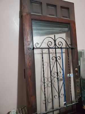 Antique 96inch wood entry door for Sale in Philadelphia, PA