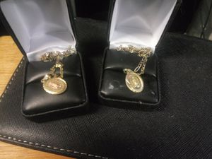 14kt necklace with charms both real gold for Sale in Chicago, IL