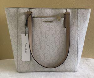 NEW Calvin Klein Monogram Logo Zip Tote Bag for Sale in Upland, CA