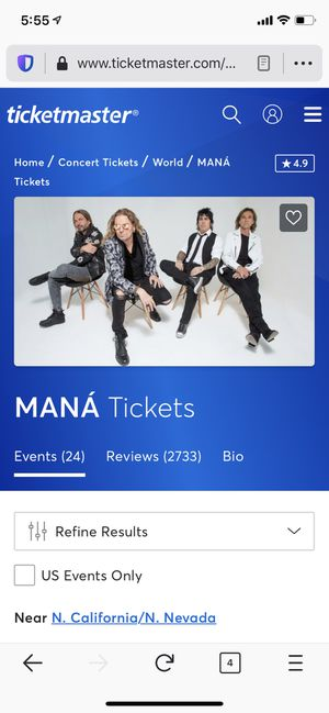 Mana Rayando El Sol Tour for 11/22/19 for Sale in Los Angeles, CA