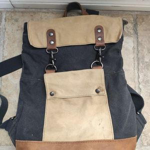 Canvas Backpack With Leather Trim for Sale in Corona, CA