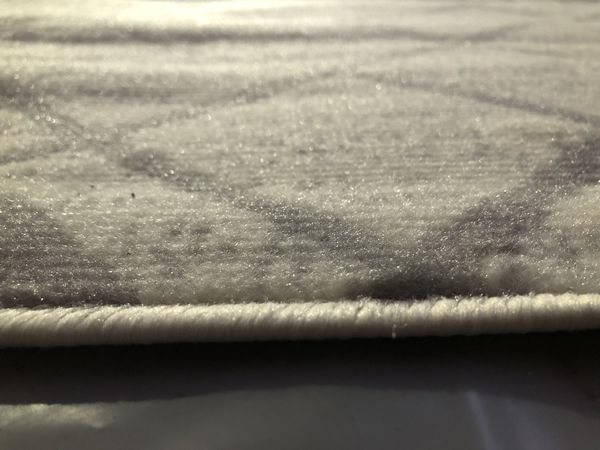 6x9ft gray low profile area rug NEW