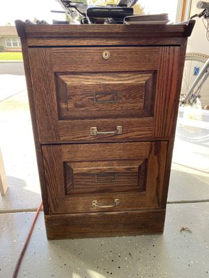 Wood Two Drawer File Cabinet for Sale in Livermore, CA