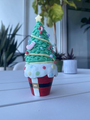 Handmade mini Christmas tree in a pot. Cold porcelain for Sale in Miami, FL